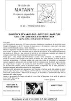 Notiziario 20 - primavera 2012