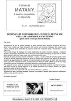 Notiziario 21 - autunno 2012